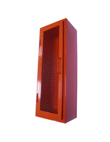 Gabinete extintor con puerta malla ossa sistemas contra for Puertas contra incendios