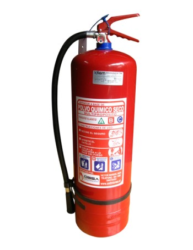 Extintor PQS 10kg 40% - Ossa Sistemas Contra Incendio