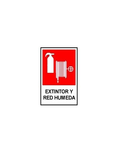 Letrero Extintor y Red Húmeda 20 X 15 CM